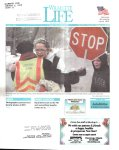 Ruth Weschler and her brother Edward give crossing guard Dorothy Davis a gift and a last hug