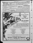 Advertisement for West End Florist, Math  Hoffman, prop.