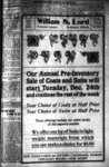 Advertisement For William S. Lord department store