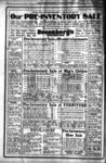 Full page advertisement for Rosenberg's Department Store