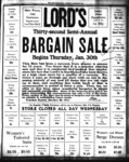 Lords bargain Sale Begins Thursday, January 30th