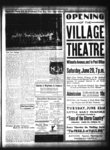 Advertisement for Opening of the Village Theatre