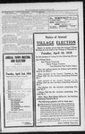 Notice of annual village election April 16, 1918
