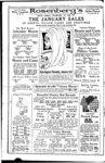 Full page advertisement for Rosenberg's Department Store