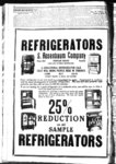 Advertisement for Refrigerators