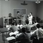 Photograph of helicopter engineers training class