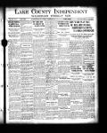 Lake County leads in typhoid death during year 1910.