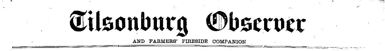 Tillsonburg News Archive