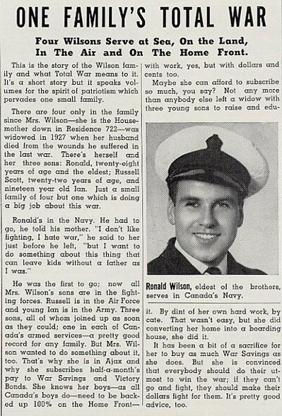 Article in The Commando, the DIL newspaper, February 1943. Courtesy the Ajax Public Library.
