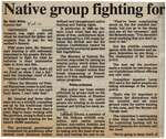 """""""Native Group Fighting for Right to Hunt and Fish"""""""